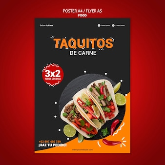Food flyer and poster template design
