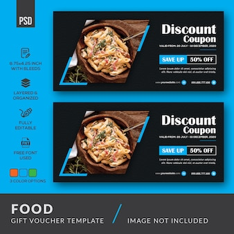 Food gift voucher template