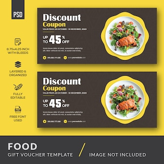 Food gift voucher Premium Psd