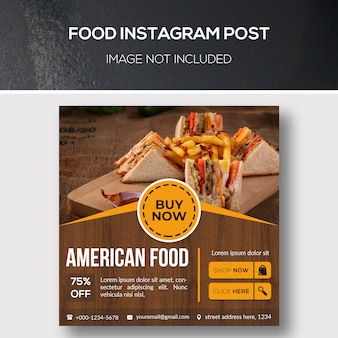 Food instagram post