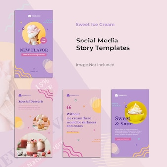 Food instagram story template banner design
