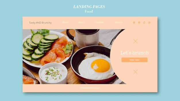 Design del modello di pagina di destinazione alimentare Psd Gratuite