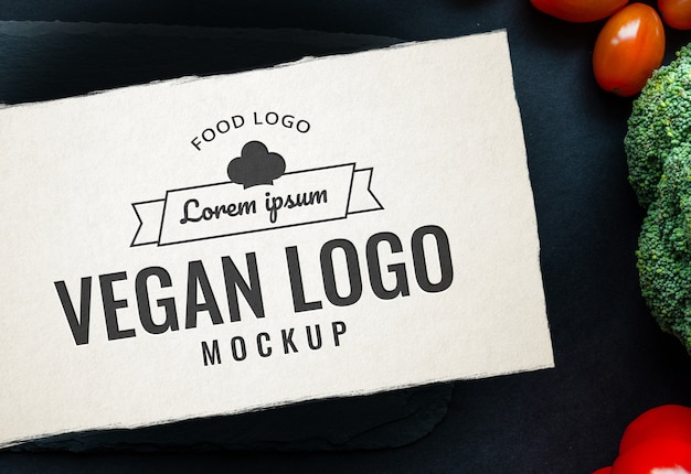 Food logo mockup table spice
