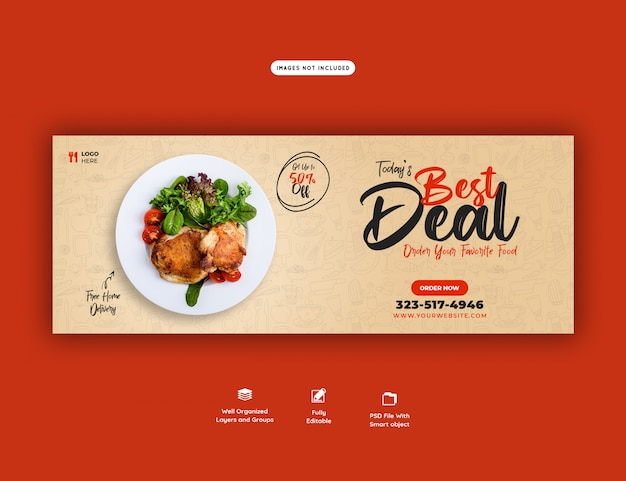 フードメニューとレストランのfacebookカバーテンプレート