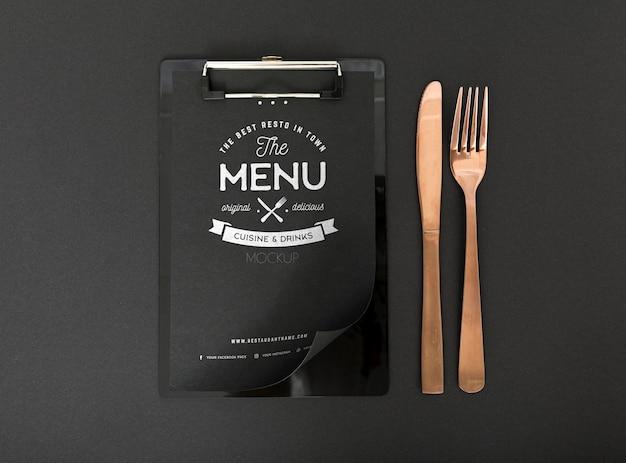 음식 메뉴 개념 모형