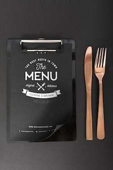 Food menu concept mock-up