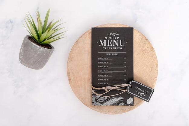 Mock-up di concetto di menu di cibo