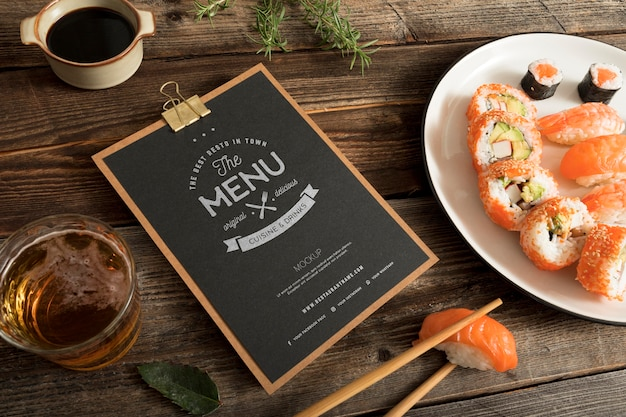 Food menu concept mock-up