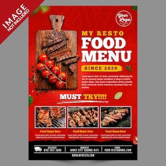 Food menu poster template