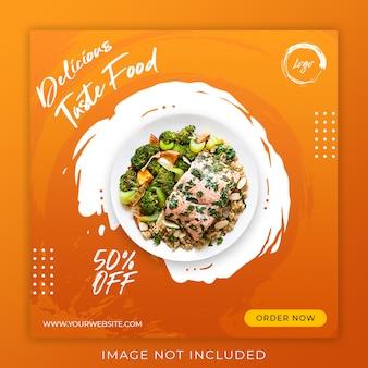 Food menu promotion post banner template
