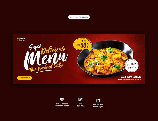 Food menu and restaurant cover template