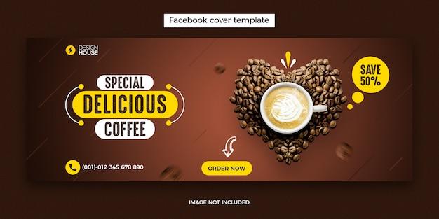 Food menu and restaurant facebook cover post template
