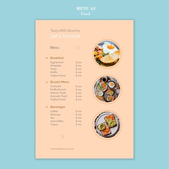 Food menu template design