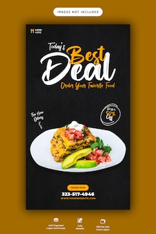 Food menu template for instagram and facebook story