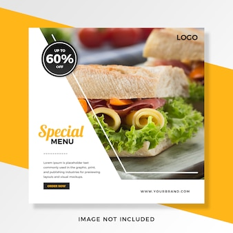 Food offers discount instagram post template
