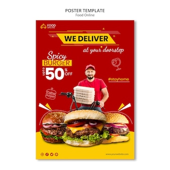 Food online concept poster mock-up