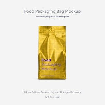 Food packaging bag mockup