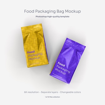 食品包装袋のモックアップ