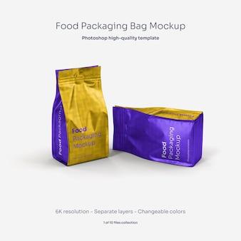 Mockup di sacchetto di imballaggio alimentare