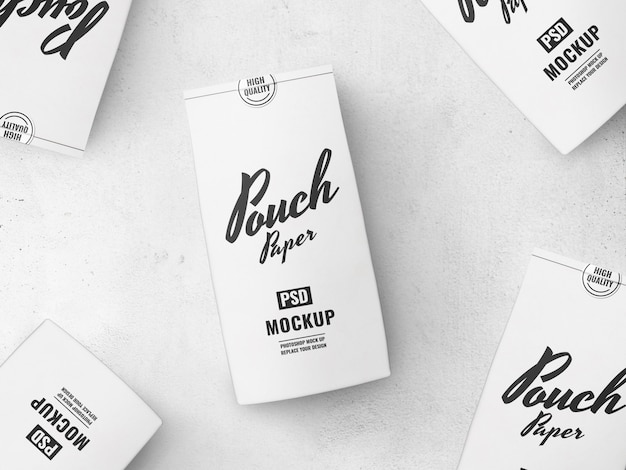 Food paper pouch mockup advertising