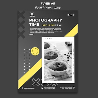 Food photography ad poster template
