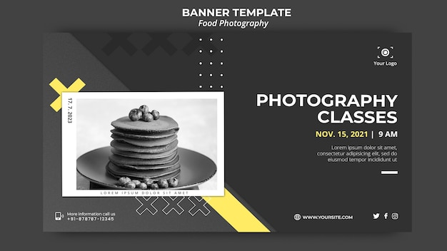Food photography banner template