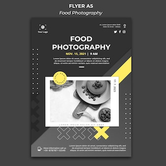 Food photography template flyer