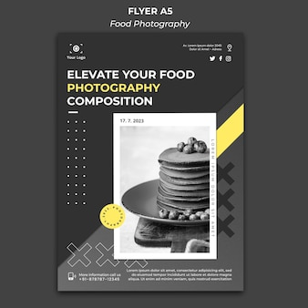 Food photography template poster