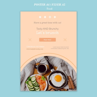 Food poster and flyer template design