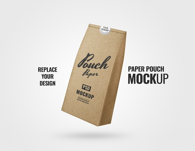 Food pouch bag flyer mockup realistic