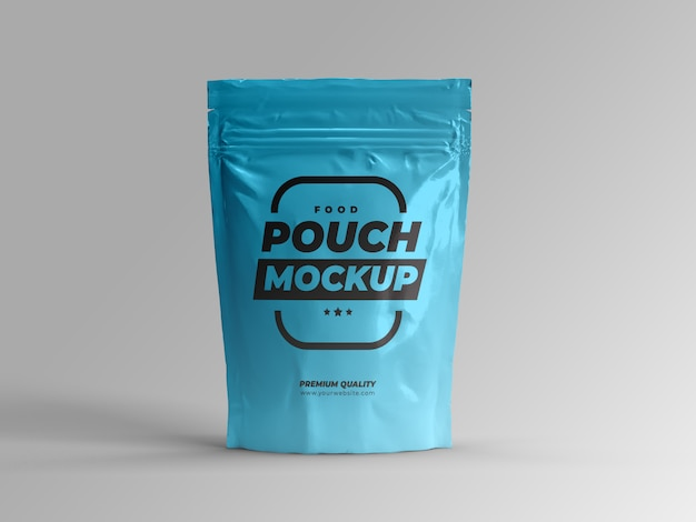 Food pouch bag mock-up