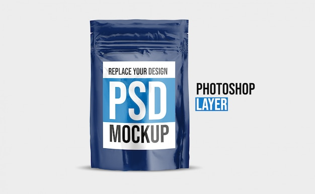 Food pouch mockup design