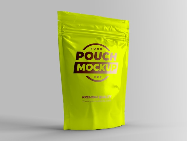 Food pouch packaging mock-up