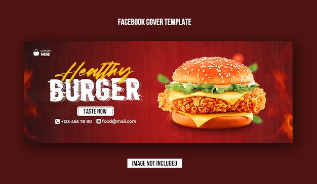 Food promotion banner and facebook cover template
