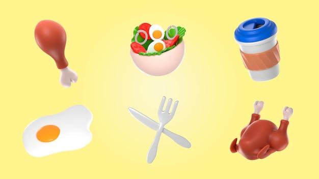 Mockup di rendering di cibo