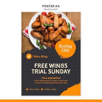 Food restaurant poster template