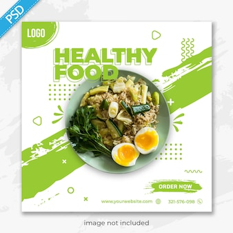 Food restaurant for social media instagram post banner template premium