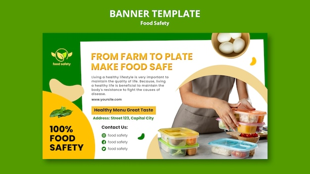 食品安全水平バナーテンプレート