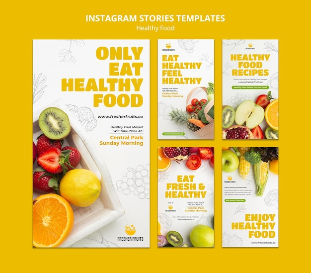 Food safety insta story template design