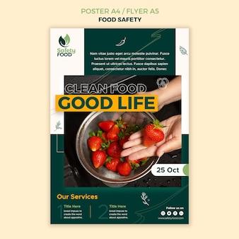 Modello di progettazione di poster per la sicurezza alimentare