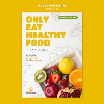 Modello di poster per la sicurezza alimentare