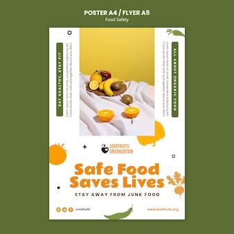 Modello di stampa verticale per la sicurezza alimentare