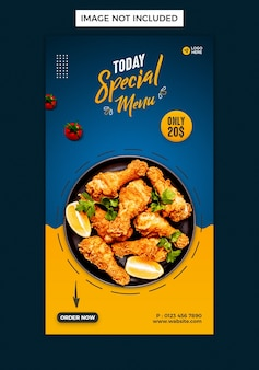 Food sale instagram story design template
