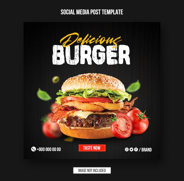 Food sale social media post template