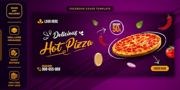 Food sale social media promotional template