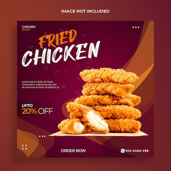 Food sale special social media banner template