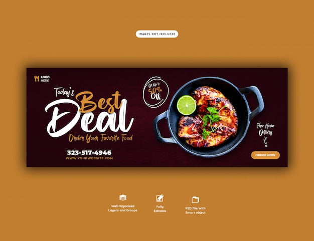 웹 배너 템플릿에 대한 식품 판매 메뉴