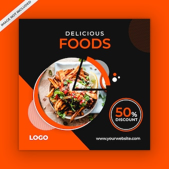 Food social media instagram template