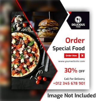 Food social media post banner template