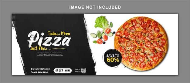 Продвижение еды в социальных сетях и шаблон оформления обложки facebook Premium Psd